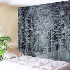 christmas snow forest path wall decor tapestry on christmas wall art tapestry with christmas snow forest path wall decor tapestry snow forest