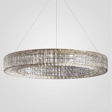 3d models ceiling light crystal halo chandelier 41 restoration