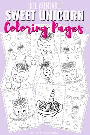 More than 600 free online coloring pages for kids: Super Sweet Unicorn Coloring Pages Free Printable Colouring Book