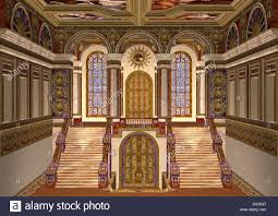 Palace Entrance Design 3d Digital Render Of A Beautiful Royal Fairy Tale Palace