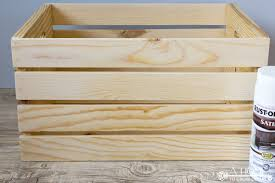 sanded wooden crate