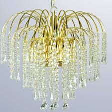 20 off waterfall four light gold crystal chandelier