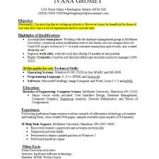 No Experience Resume Samples Best Of Job Experience R Stunning Resume Examples For Students With No Work