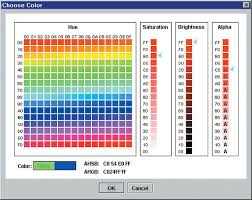 Java Color Chart Using Color Technology In Java