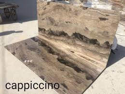 cappuccino marble slabs usage flooring kitchen top countertops walls staircase