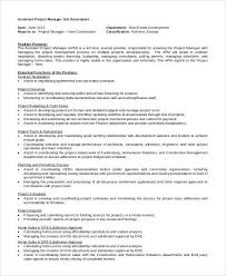 Architectural Project Manager Resume Job Description Project Manager Position Description Radiovkm Tk