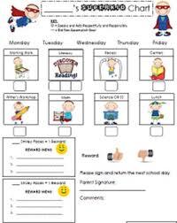 Behavior Modification Charts Super Kid Behavior