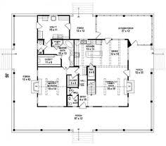 images about Dream House on Pinterest   Floor Plans  House        Bedroom   Bath Southern House Plan   wrap around porch   House