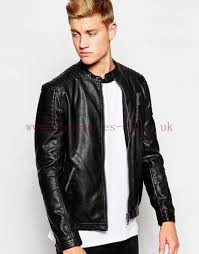 new look silver white leather jacket jacket men s faux zip larger image
