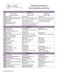 Free Cleaning Schedule Download From Joyful Mothering