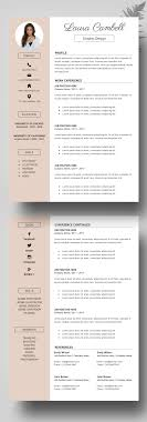 Free Resume Templates For Designers Best of Modern Resume Template CV Template For Word Cover Letter