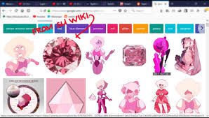 Me Trying To Find A Picture Reference For A Pink Diamond The Gem