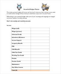 sample household budget household budget template 9 free sample example format free