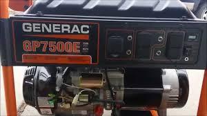 generac gp7500e consumer review the good, the bad, and the ugly generac xp8000e manual at Generac Xg 8000 Wiring Diagram