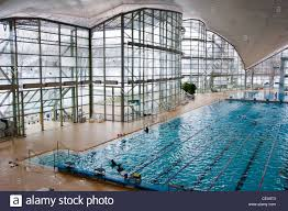 munich olympic swimming pool now open to the public munich germany stock image