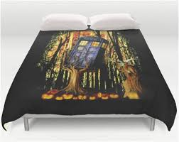Dr Who TARDIS Cannot Escape Halloween Witch Bedding
