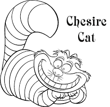 Small Picture Cheshire Cat Coloring Page Coloring Home