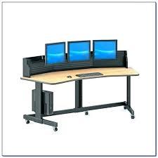computer desk for 2 monitors computer desk for multiple monitors corner computer desk multiple monitors desks