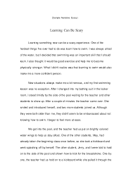 sample narrative essay sample narrative essay learning can be scary learning something new can be a scary