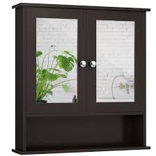 two door wall cabinet w double mirrors