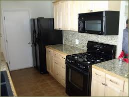 kitchens with white appliances and dark cabinets photo 9
