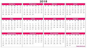 excel 2018 yearly calendar work schedule template excel and 2018 yearly calendar printable