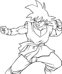Coloriage Son Goku Combat Imprimer Sur Coloriages Info