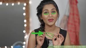 image led do cal makeup on indian skin step 2