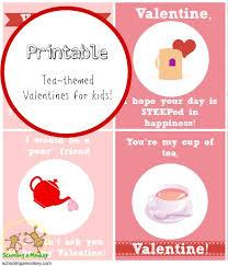 Tea Party Free Printables Printable Valentines For Kids