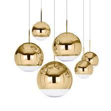 tom dixon mirror ball gold pendant lights
