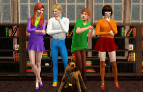 Decided to make the Scooby Doo gang :D : thesims