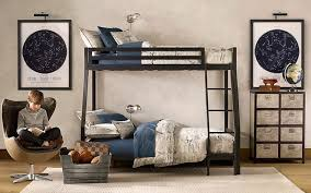 Kidspace Bedroom Furniture White Wall Paint With Black Storey Bed With Ladder Also Blue