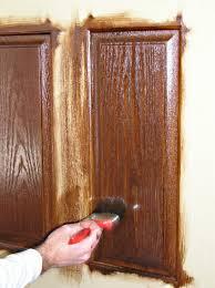finishing staining a fiberglass door raised panel