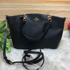 official coach pebble leather small kelsey satchel im black f28993 ffe18 37a1e