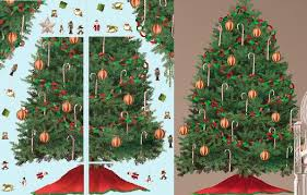 Christmas Wall Decals  Christms Stickers  Christmas Wallpaper Christmas Tree Decals
