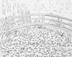 Small Picture MONET Bridge Over Waterlilies Pond Traceable angelafineart