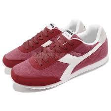 Details About Diadora Jog Light C Scarlet Red White Men Casual Shoes Sneakers Da171578 45038