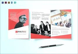 Multi Page Brochure Template Free Designs Word For Vintage