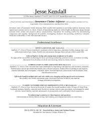 Insurance Agent Resume Job Description Evoo Tk