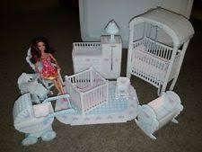 diy barbie dollhouse furniture. Hand Made Yarn Plastic Canvas Barbie Doll House Furniture Nursery Crib Crochet Diy Dollhouse