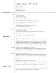 Resume Examples For College Magnificent The Top Architecture RésuméCV Designs ArchDaily