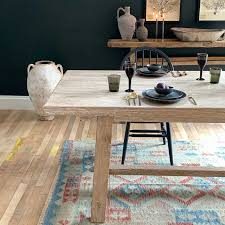 whitewashed reclaimed elm dining table