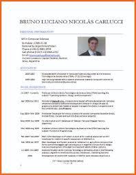 Computere Cv Template Bruno Luciano Nicolas Carlucci Resume Format