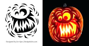 Scary Pumpkin Carving Patterns Delectable Easy Scary Pumpkin Carvings Aveaqua