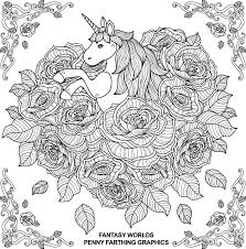 The Unicorn From Fantasy Worlds Coloring