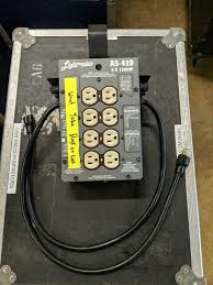 Colortran Lighting Parts Lightronics As 42d Portable Dimming System 4x1200w As Is For Parts