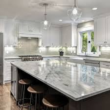 White cabinets with marble countertops White Lace Large Transitional Kitchen Ideas Kitchen Large Transitional Ushaped Dark Wood Floor And Houzz Kitchens With White Cabinets And Gray Countertops Houzz