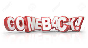 Word In Red Comeback Word In Red 3d Letters To Illustrate A Triumphant Return