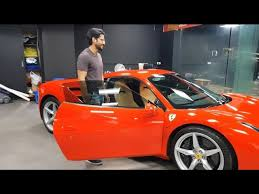 Bugatti automobiles la voiture noire raincoat black. Actor Naga Chaitanya S Ferrari 488gtb Hyderabad India Youtube