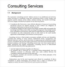 Consultancy Project Proposal Template Sample Consultant Proposal 9
